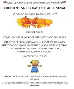 AVFD FALL FEST & CHILDREN'S SAFETY DAY @ Arbutus Volunteer Fire Department, Inc. | Arbutus | Maryland | United States