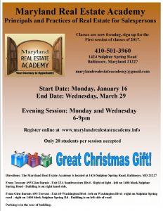 Real Estate Classes Now Forming @ Maryland Real Estate Academy | Arbutus | Maryland | United States
