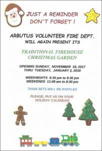 Traditional Firehouse Christmas Garden @ Arbutus Volunteer Fire Department | Arbutus | Maryland | United States