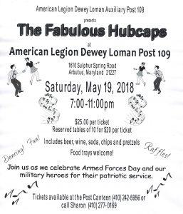 The Fabulous Hubcaps @ American Legion Dewey Loman Post 109 | Arbutus | Maryland | United States