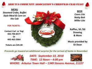 Christmas Crab Feast @ Arbutus Town Hall | Halethorpe | Maryland | United States