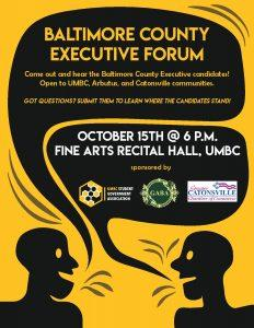 Baltimore County Executive Forum @ UMBC, Fine Arts Recital Hall | Baltimore | Maryland | United States