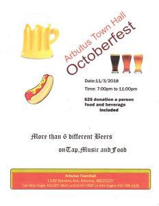 Arbutus Town Hall Octoberfest @ Arbutus Town Hall | Halethorpe | Maryland | United States