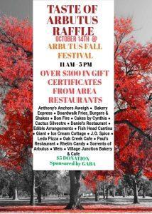 Taste of Arbutus Raffle @ Arbutus Fall Festival | Halethorpe | Maryland | United States