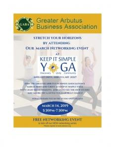 March Networking Event @ Keep it Simple Yoga | Halethorpe | Maryland | United States