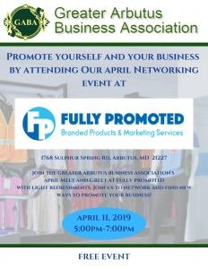 GABA April Meet and Greet @ Fully Promoted | Arbutus | Maryland | United States