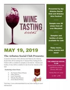 Wine Tasting @ The Arbutus Social Club | Halethorpe | Maryland | United States